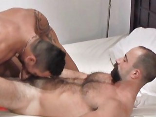 Hot beared mature gay stud gets roughly fucked