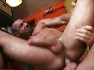 Strong construction workers having wild sex