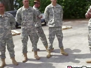 Sergeant forces soldiers into pleasing outdoors