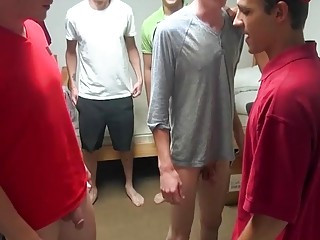 Blindfolded twink opens wide for a very big surprise